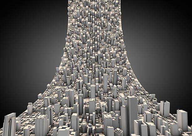 Abstrakte geschwungene city – Foto