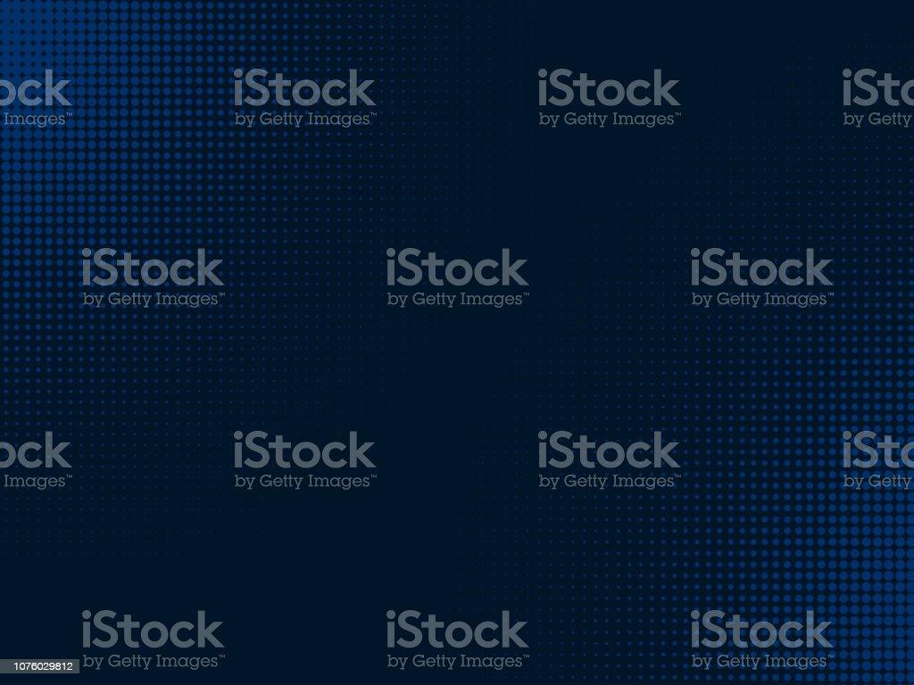 Kavisli parçacık mavi arka plan - Royalty-free 2019 Stok görsel