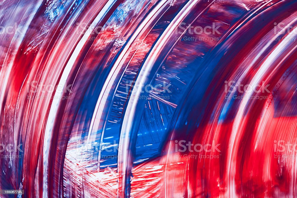 Abstract Curves In Red White And Blue royalty-free stock photo