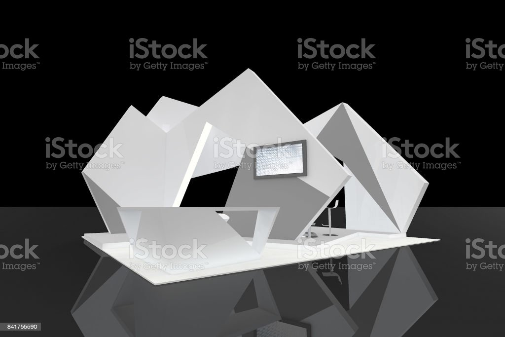 Abstract Customised Island booth stock photo
