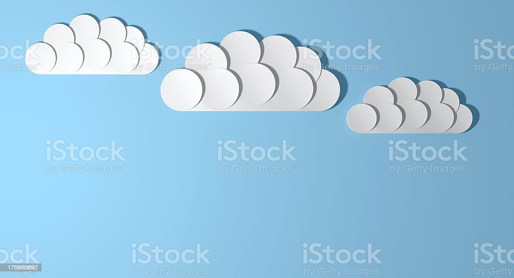 Abstract Cutout Cartoon Clouds stock photo