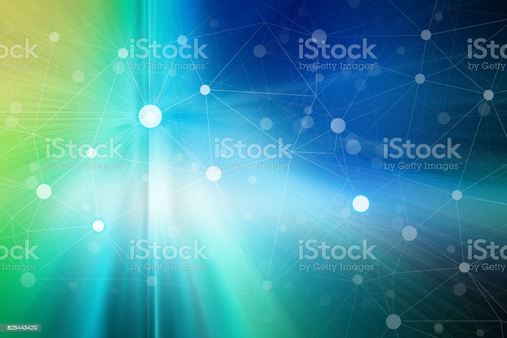 Abstract Cyber Technology Background stock photo