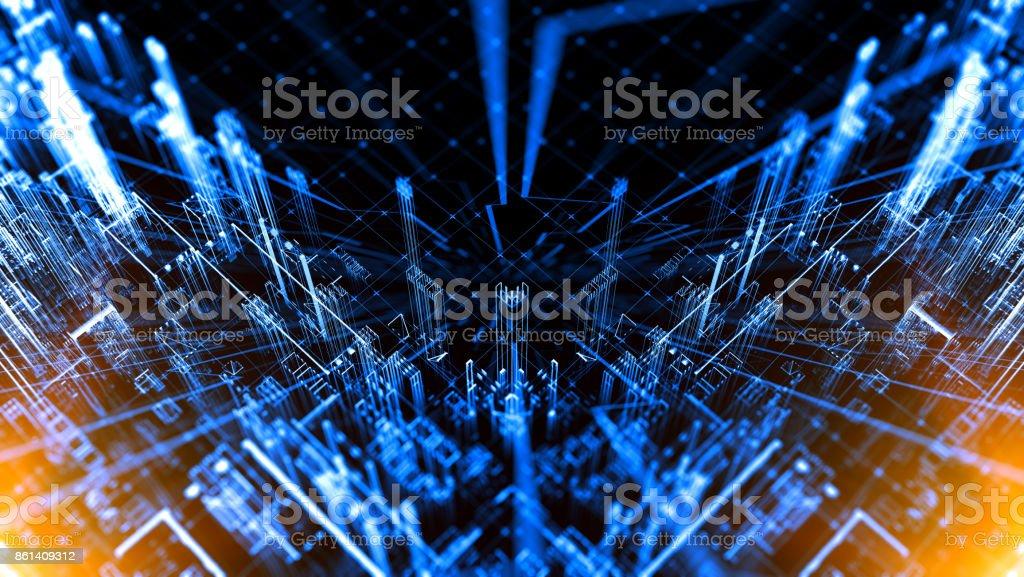 Concepto abstracto del ciberespacio - foto de stock