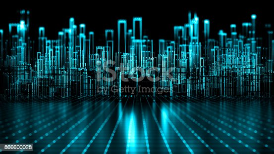 istock Abstract Cyberspace Concept 866600028