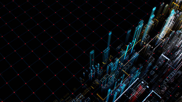 Abstract Cyberspace Concept stock photo