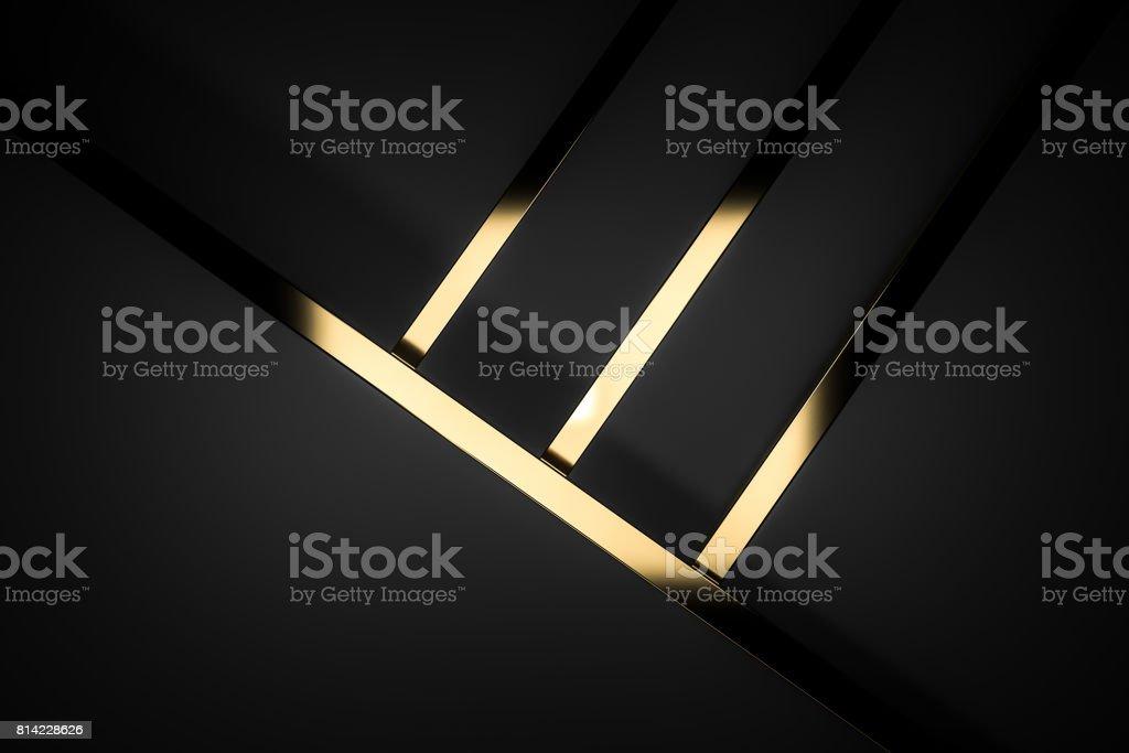 抽象的な暗い黒ゴールド高級背景 3 d のレンダリング ストックフォト
