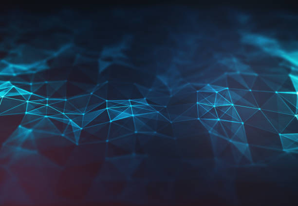 abstract dark blue polygonal terrain relief low poly background. - two dimensional shape stock photos and pictures