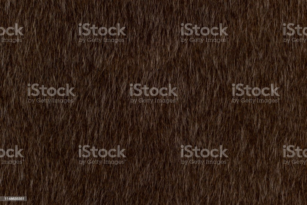 Abstract dark brown animal hair texture background. Close up detail...