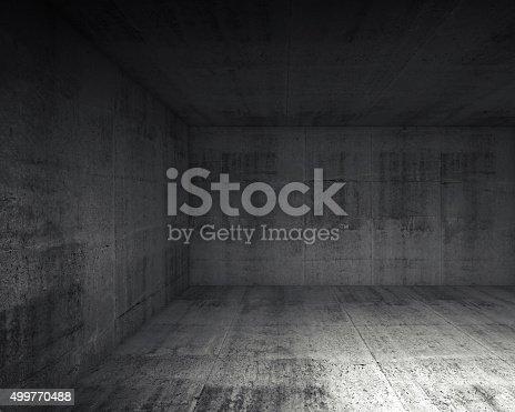 istock Abstract dark concrete interior of underground 499770488