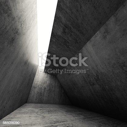 istock Abstract dark empty gray concrete interior 3 d 585056090