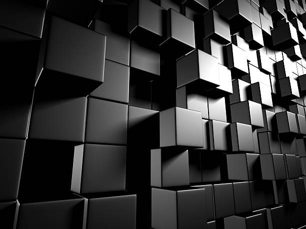 Abstrakte dunklen Metallic-Würfel Wand Hintergrund – Foto