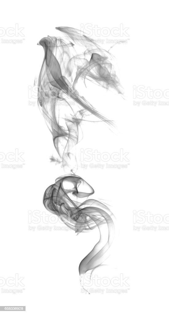 Abstract dark smoke stock photo
