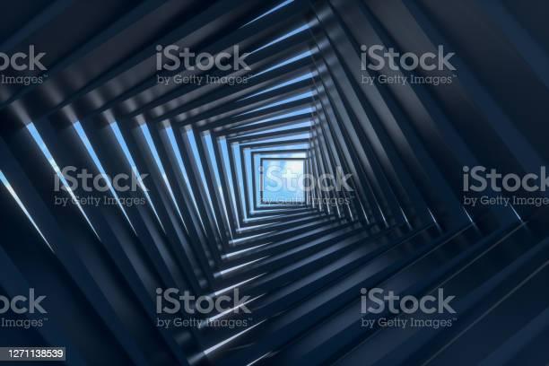 Photo of Abstract Dark Tunnel, Door to Sky