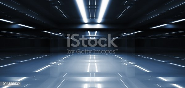 859156600 istock photo Abstract dark tunnel perspective 3d 924355502