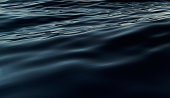 Abstract dark water surface. 3D illustration