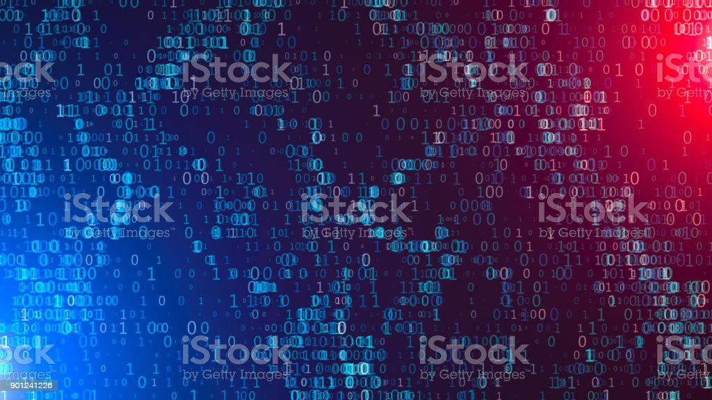 Abstract Data Flowing in Futuristic Fiber Optic Tunnel, Technology Background stock photo