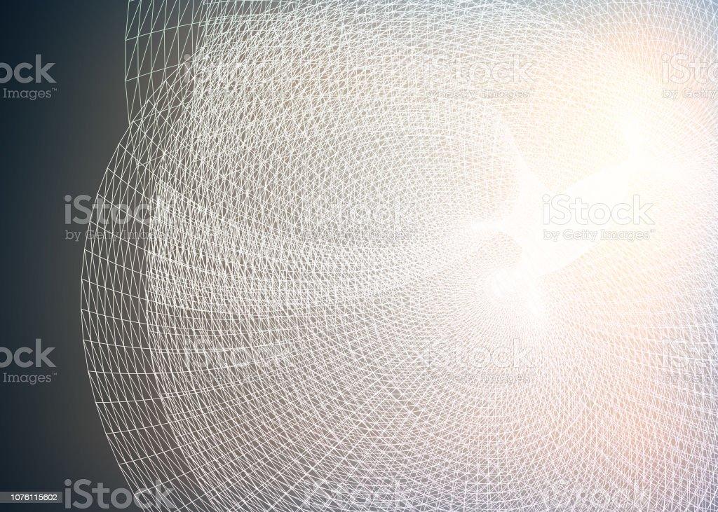 Abstract data representation stock photo