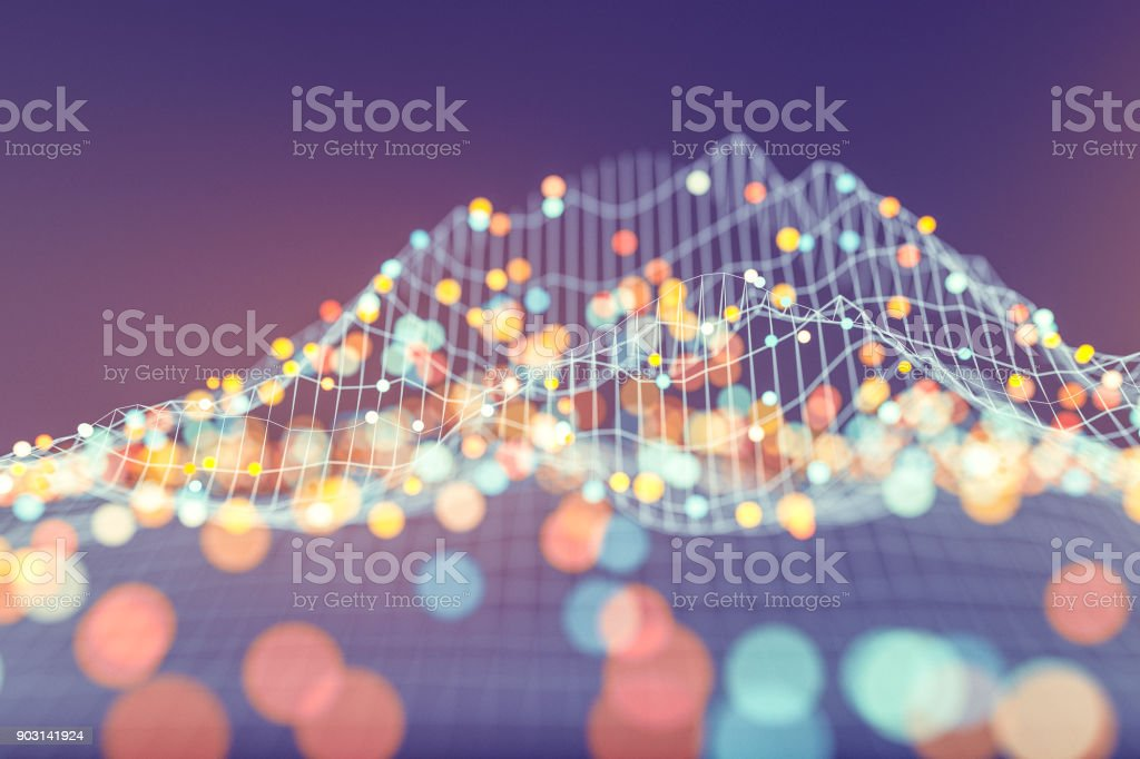 Abstract data representation stock photo