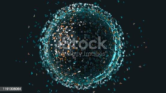 istock Abstract data sphere 1191308064