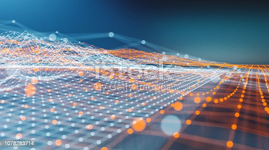 istock Abstract data wire-frame graph model 1078283714