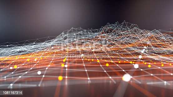 istock Abstract data wire-frame graph model 1081167314