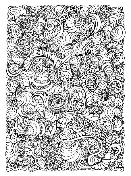 abstract decorative seamless pattern, zentagle style background - doodle stock photos and pictures