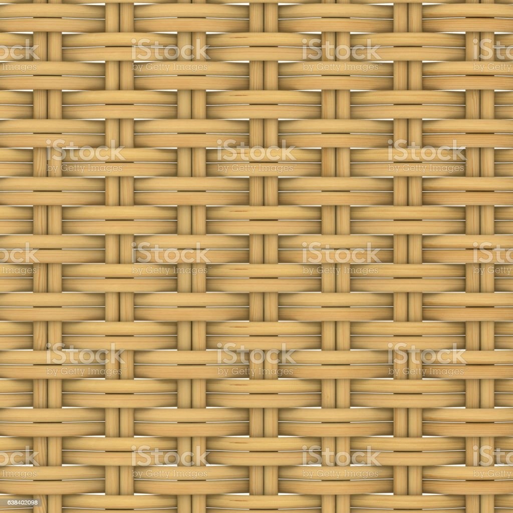 Abstract decorative wooden textured basket weaving. 3D image stock photo