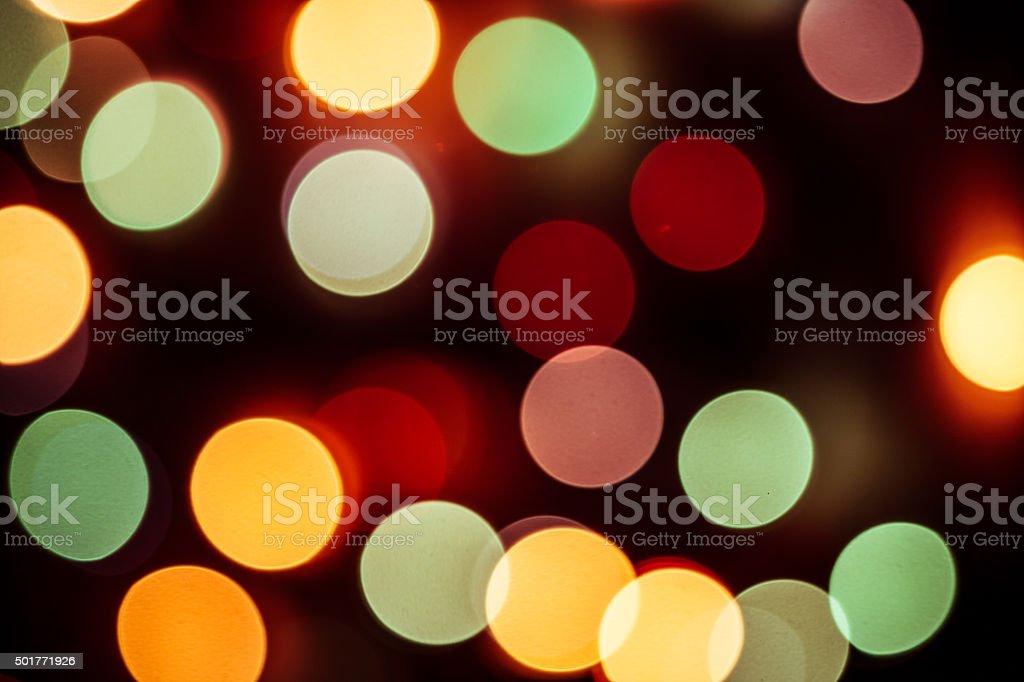 Abstract defocused circular light pattern stock photo