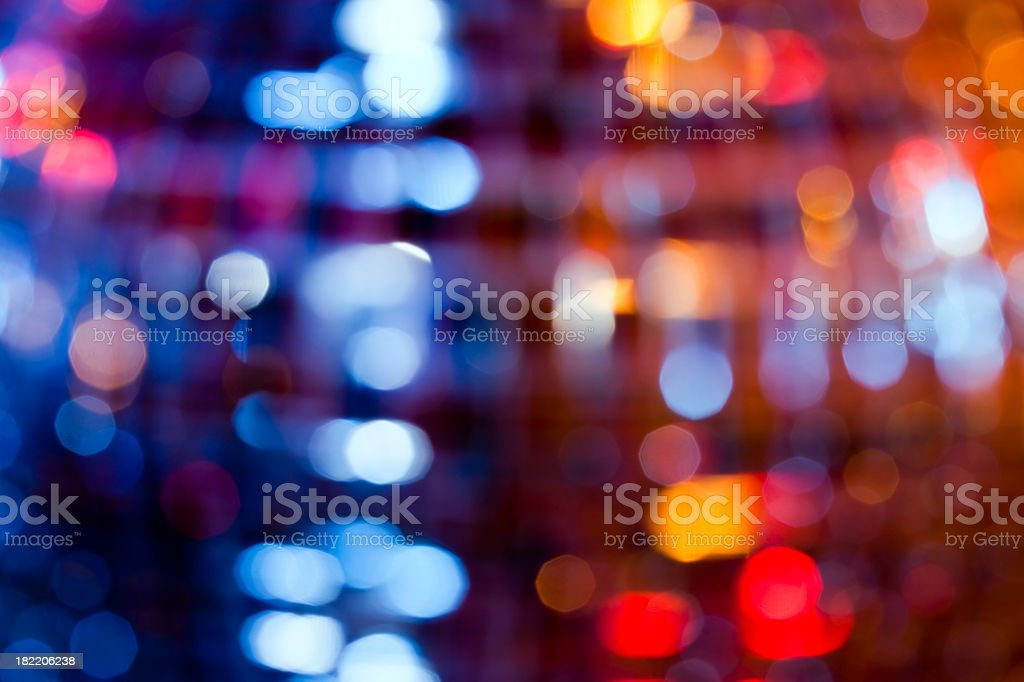 Abstract defocused lights from disko sphere royalty-free stock photo