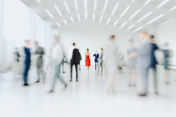 formas abstractas desenfocadas de los empresarios de oficina - lifestyle color background fotografías e imágenes de stock