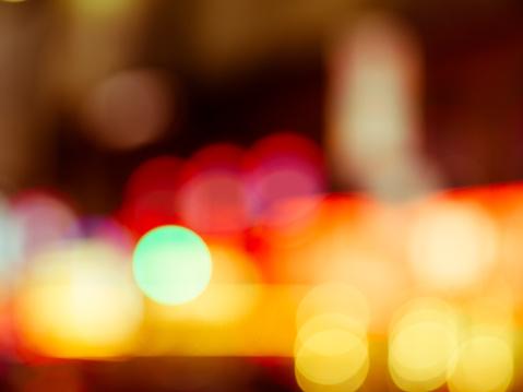 517687466 istock photo Abstract defocused street scene in Manhattan, New York City 500136238