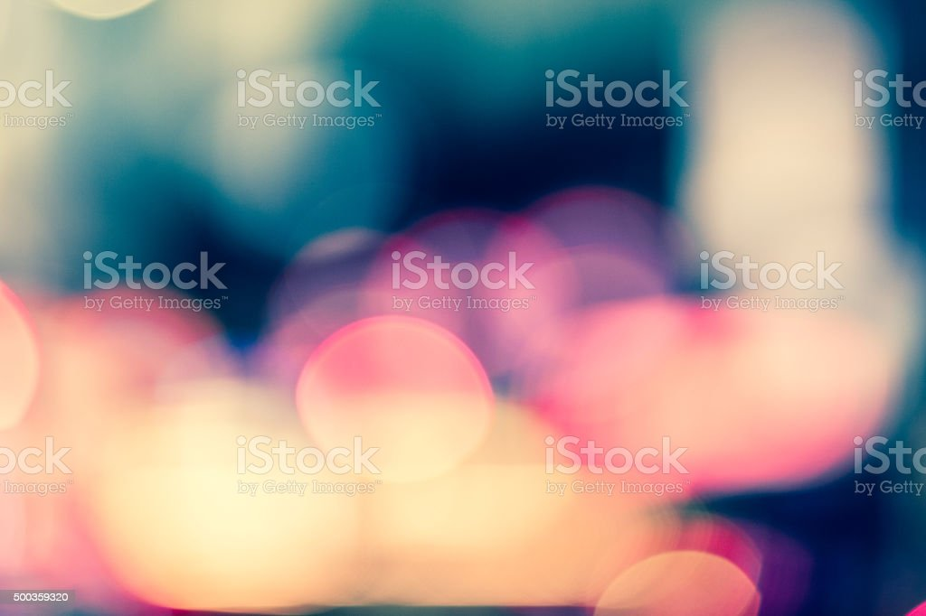 Abstract defocused street scene in Manhattan, New York City stock photo
