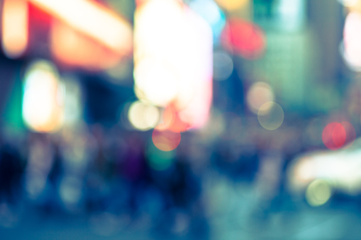 517687466 istock photo Abstract defocused street scene in Manhattan, New York City 500663988
