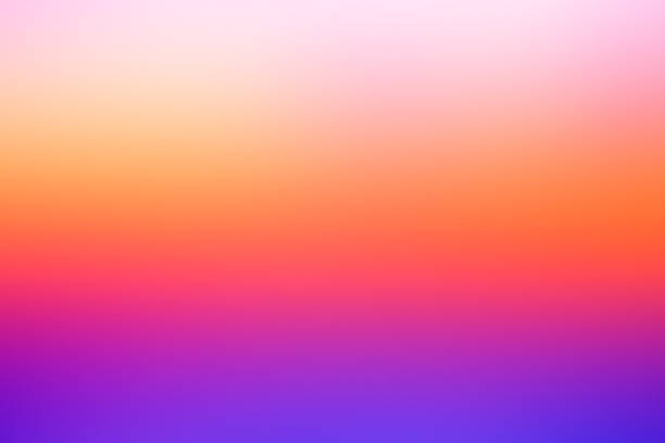 Abstract defocused vivid background: Dreamy  sunset colors. stock photo