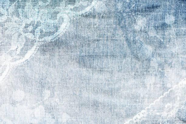 abstrakte denim spitze textur hintergrund. - vintage spitze stock-fotos und bilder