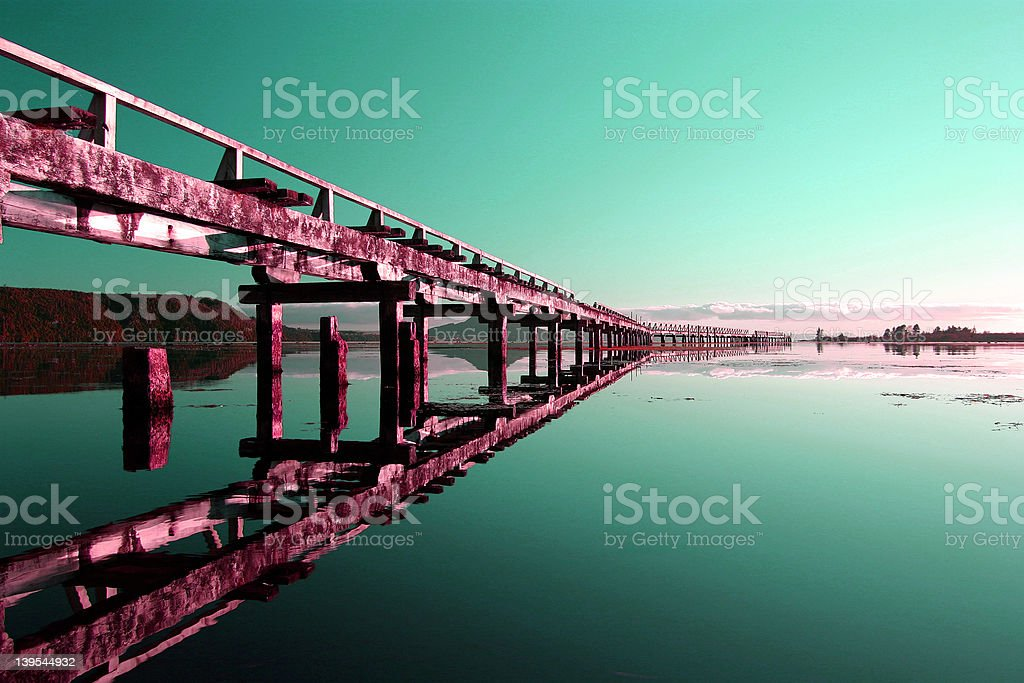 Abstract, Derelict Wharf 3 royalty-free stock photo