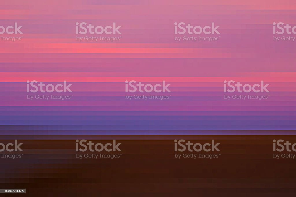 Abstract desert sunset landscape. stock photo
