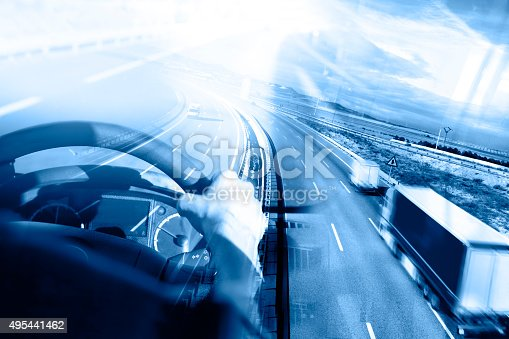 istock Abstract Design international shipment and highway 495441462
