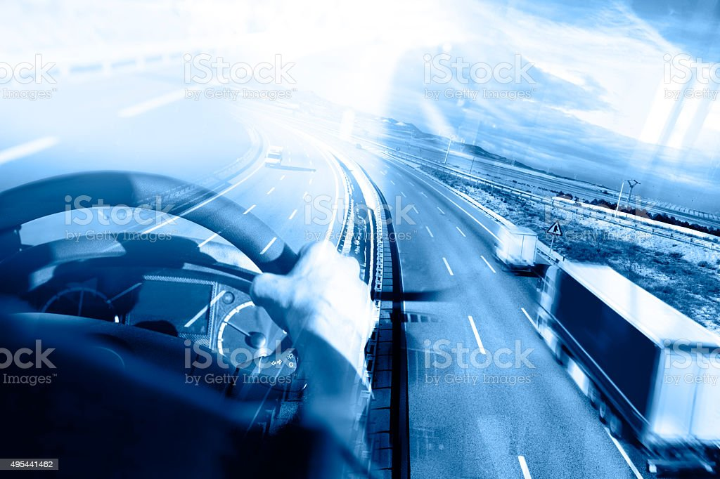 Astratto Design international spedizione e autostrada - foto stock