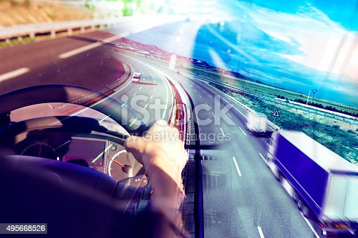 istock Abstract Design international shipment and highway 495668526