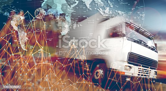 istock Abstract Design international shipment and highway.Logistics business 1060938682