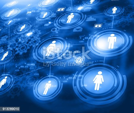 istock Abstract design of business network 913289010