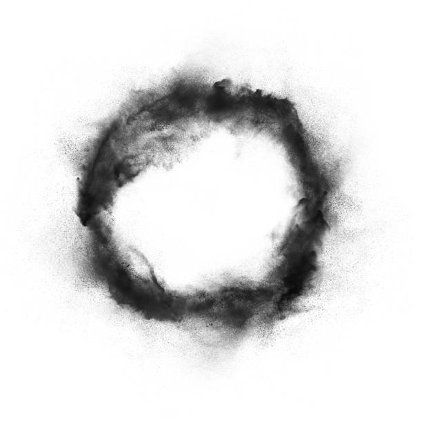 Abstract design of dark powder explosion