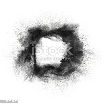 504797668 istock photo Abstract design of dark powder explosion 1146729603