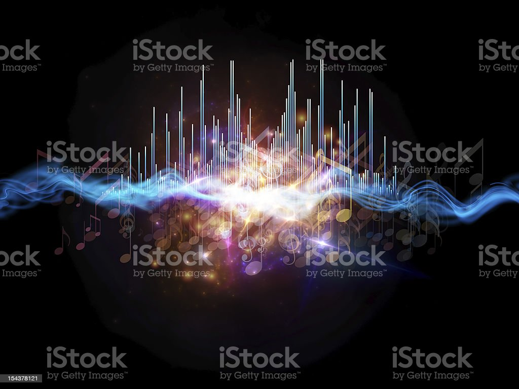 Abstract design of music analyzer bars stock photo