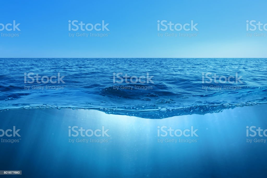 Abstract design of water split stock photo