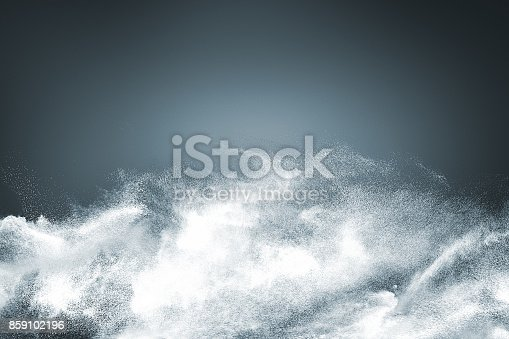 istock Abstract design of white powder snow cloud 859102196