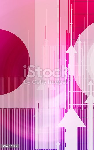 838721578 istock photo Abstract design with arrows and circles 494092069