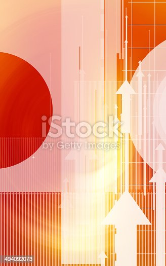 838721578 istock photo Abstract design with arrows and circles 494092073