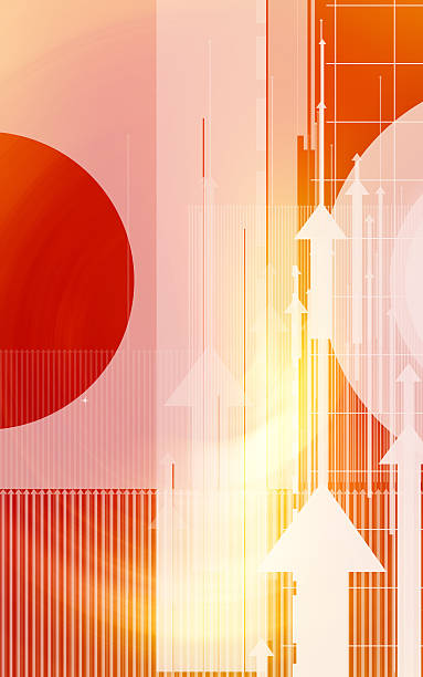Abstract design with arrows and circles stock photo
